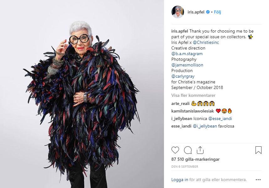 Iris Apfel Instagram