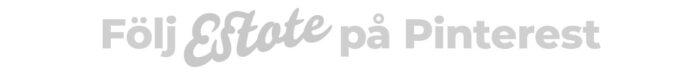 Gilla estote på pinterest logo